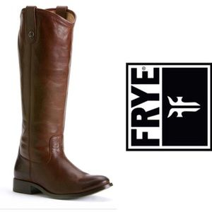 Frye Mellissa Riding Boots-Brown